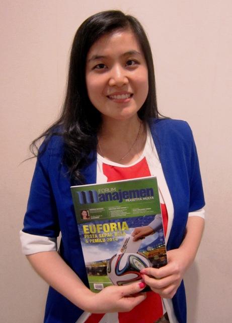 Majalah Forum Manajemen Prasetiya Mulya Vol: XXVIII | 03 | 2014; (model: Intan)