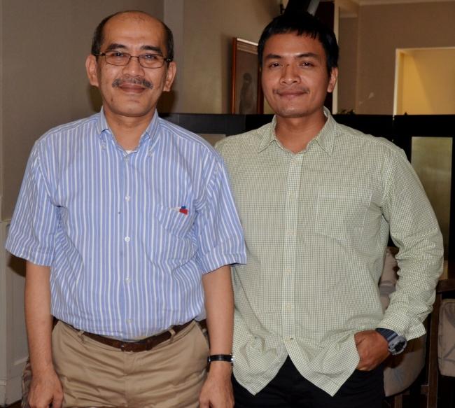 Saya bersama Pak Faisal Basri; foto: Asep Toni Koes
