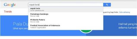 Mengetik Sepak Bola di Google Trends