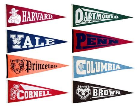 Ivy League Penants. Pic source: blackenterprisecom