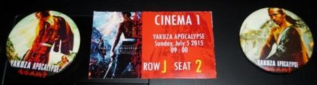 Pin dan tiket Yakuza Apocalypse