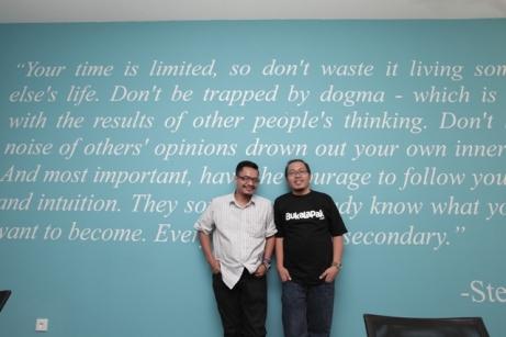 Bersama Achmad Zaky, CEO Bukalapak; Foto: Lilyanti