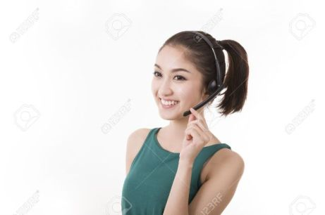 Asian women call center with phone headset - 123rf.com