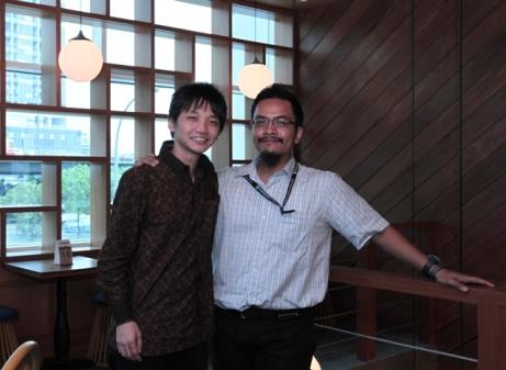 Bersama Steven Vanada (Vice President CyberAgent Ventures)