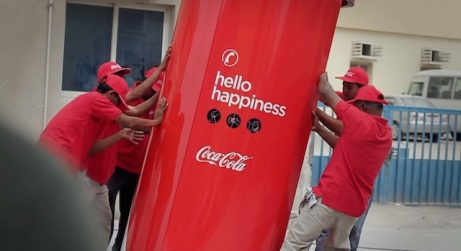 Coca Cola Guerrilla Marketing - pic source: creativeguerrillamarketingcom