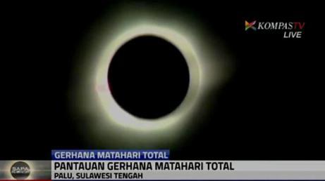 Cetak layar Gerhana Matahari Total Palu - KompasTV