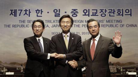 Korea Selatan, Jepang, dan Republik Rakyat China - sumber voanewscom