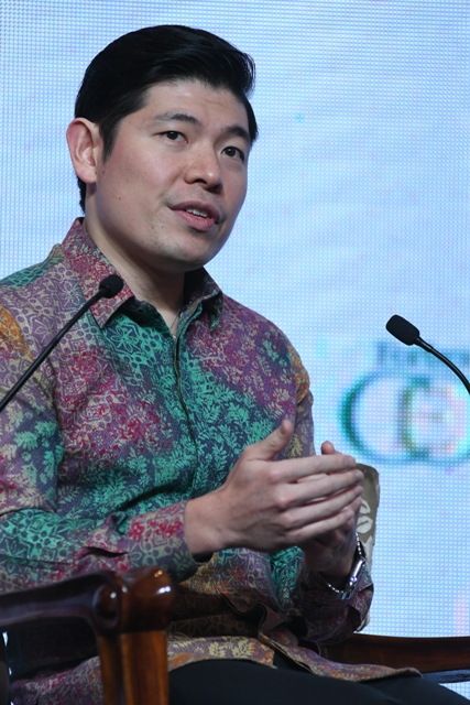 Anthony Tan of Grab in Forbes Global CEO Conference 2016, Jakarta - photo source Weber Shandwick 2016