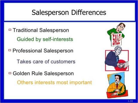 Aturan emas wiraniaga - Salesperson Golden Rules